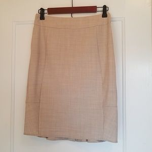 Body by Victoria cream crosshatch pencil skirt